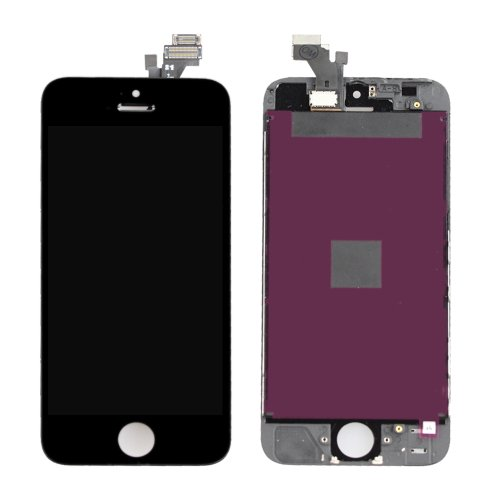 Flylinktech ® Fully Tested New Black Touch Screen Digitizer + Lcd Replacement Part - Complete Assembly For Iphone 5 5G (Black)