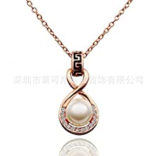 buy Wholesale Of Electroplating 18K Gold Pearl Necklace Not Fade South Korea Jewelry Creative Gift Item Clavicle