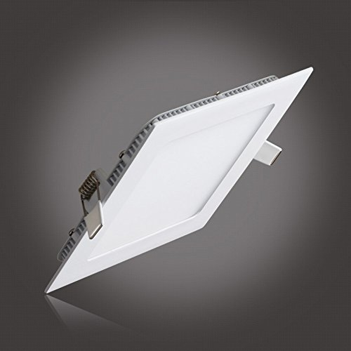 S&G® Ceiling Light Panels, Ultrathin Suqare LED Recessed Lighting Kit, 12W 850LM 3000K(Warm White), Hole Size:155MM, AC85-265V, Factory Price, Christmas LED Lights (Led Light Panel Ceiling compare prices)
