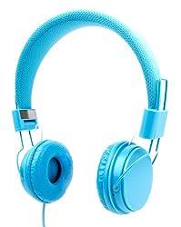 DURAGADGET Blue Ultra-Stylish Kids Fashion Headphones For Apple iPad / iPad 2, 3, 4 / iPad Mini, Mini 2, Mini 3 / iPad Air, Air 2, Maxi / Apple MacBook Pro