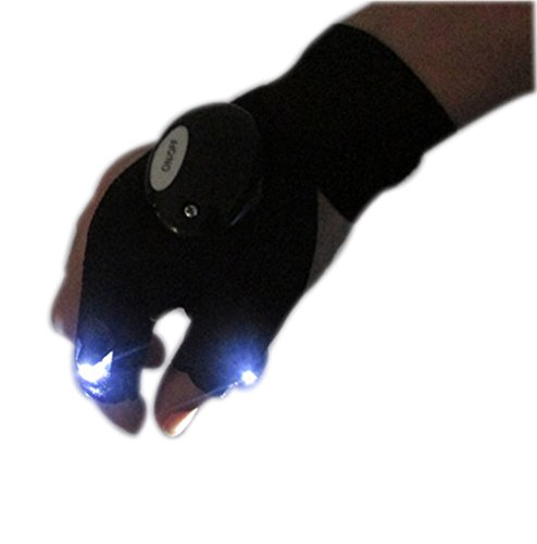 Multi-function flashlight LED Dew 3 Finger Lighting luminous Gloves Outdoor Sports Gloves Essential Only One
