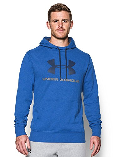 Under Armour Men's Tri-Blend Fleece Graphic Hoodie, Royal (400), Small