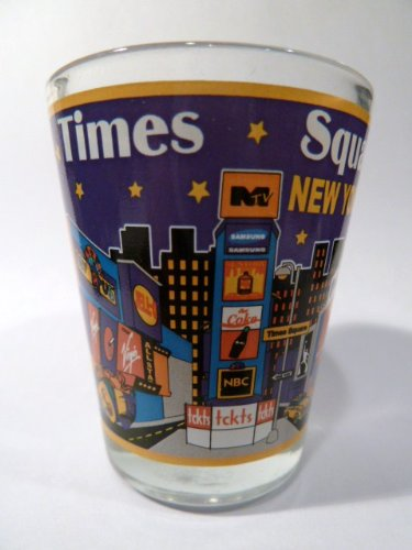 New York City Times Square Shot Glass