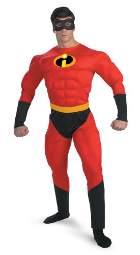 Mr. Incredible Costume Muscle Chest Adult Incredibles Costume 5368