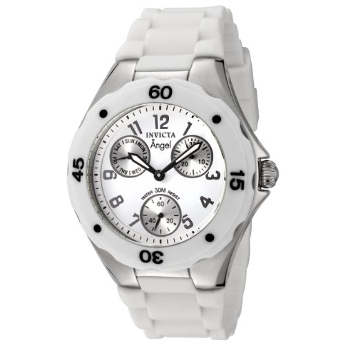 Invicta Women's 0734 Angel Collection White Polyurethane Watch