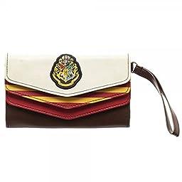 Harry Potter Hogwarts Crest Logo Womens 3-Fold Envelope Clutch Wallet