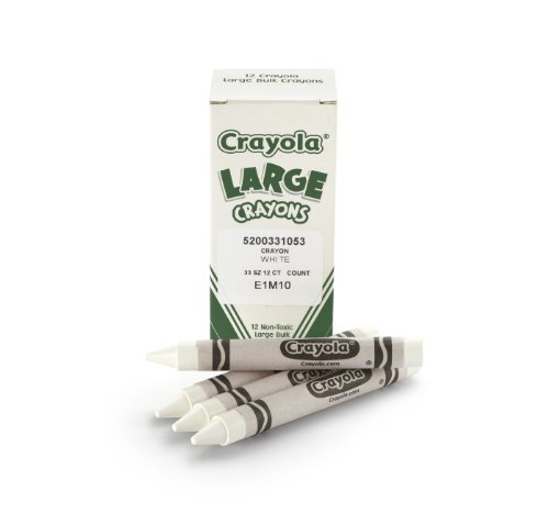 Crayola Bulk Crayons Large Size, White - Pack of 12 - 1