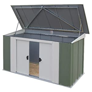 rowlinson aufbewahrungsbox metall ca 180 x 90 cm garten. Black Bedroom Furniture Sets. Home Design Ideas