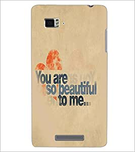 LENNOVO VIBE K910 YOU ARE BEAUTIFUL Designer Back Cover Case By PRINTSWAG