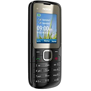 Nokia C2-00 Téléphone Portable Bi-bande GPRS Bluetooth Noir