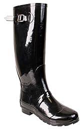 Nomad Footwear Women\'s Hurricane II Rainboot, Black, 11 M US