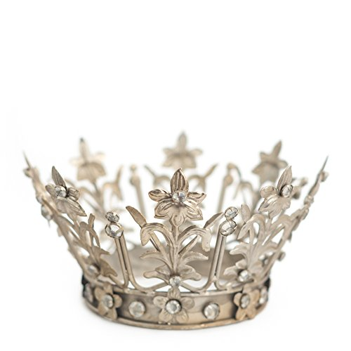 Crown Cake Topper, Silver Crown, Vintage Crown, Fiona, Wedding Cake Topper, Princess Cake, Crown Photo Prop, The Queen of Crowns (Silver)