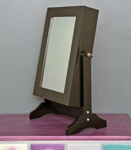 tisch schmuckschrank frisierschrank mit spiegel neigbar. Black Bedroom Furniture Sets. Home Design Ideas