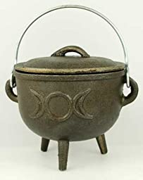 Cast Iron Cauldron Triple Moon (each)