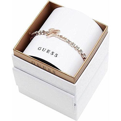 Guess Damen-Armband Edelstahl gebürstet Kristall silber 19 cm - UBS21503-S thumbnail