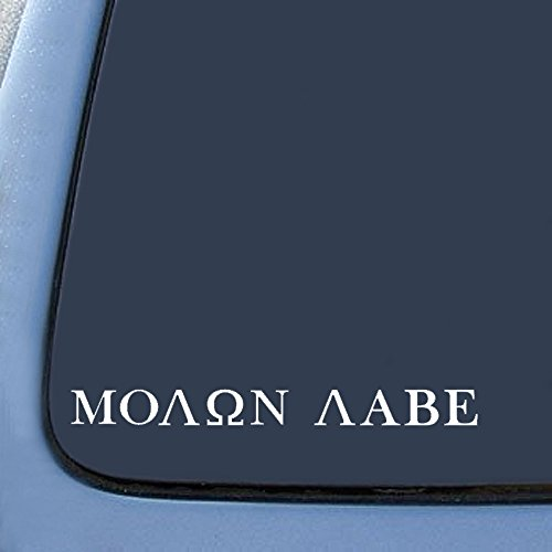 Molon Labe (COME AND TAKE THEM!) Sticker Decal Notebook Car Laptop 8