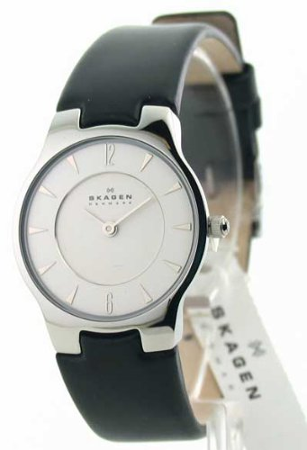 Womens Skagen Leather Ultra Slim Fashion Watch 433SSLB1