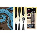 Studio By Sculpey Style & Detail Tools Set Of Three (Color: Black, Tamaño: 3 pc)