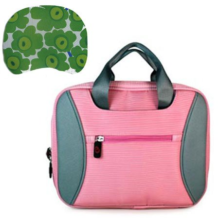 Acer Aspire One AO532h- 2588 2730 2223 2326 2406 Acer 10 inch Netbook 2-Tone Tag Baby Pink Carrying Case + Mouse Pad