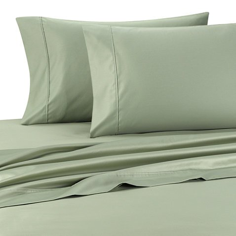 1400 Thread Count Full Sage Striped Luxury 8-Peices Bed-In-A-Bag Set -100% Egyptian Cotton front-1004920