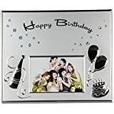 Designer Silver Plated Birthday Photo Frame