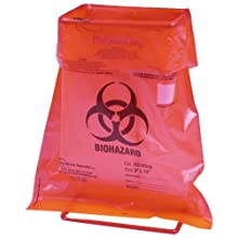 Heathrow Scientific HD10044H Steel Wire Biohazard Bag Holder, 128mm Length x 91mm Width x 214mm Height