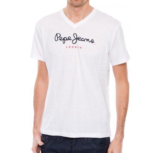 pepe-jeans-eggo-v-maglietta-con-collo-a-v-manica-corta-uomo-bianco-weiss-white-2xl