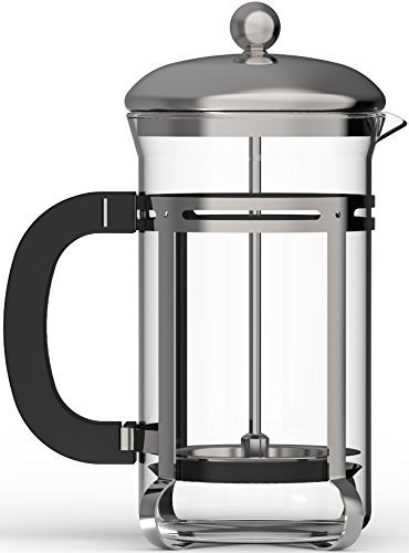 New French Press, Coffee & Espresso Maker, ZYK French Press Coffee Maker, 16-Ounce 4 Cups (4 Oun...