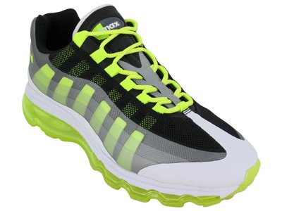5902e6e0d6 Nike Men s NIKE AIR MAX 95 BB RUNNING SHOES 10 5 Men US BLACK VOLT DARK  GREY WOLF GREY