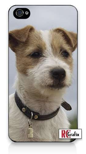 Premium Direct Print Stout & Serious Jack Russell Puppy Dog - Very Smart iphone 6 Quality Hard Snap On Case for iphone 6/Apple iphone 6 - AT&T Sprint Verizon - White Case PLUS Bonus RCGRafix The Best Iphone Business Productivity Apps Review Guide