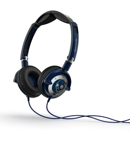 Skullcandy Lowrider 2.0 On-Ear Headphones with Mic - Navy/Chrome