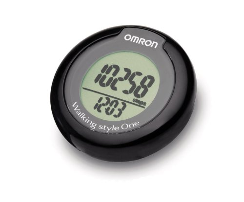 Omron Walking Style One Pedometer with Step Counter Sensor Technology