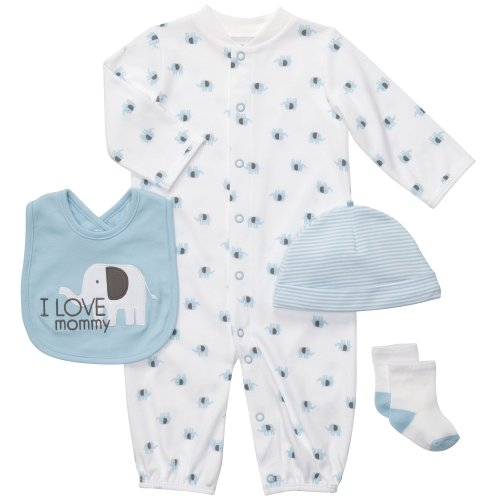 Carter'S Baby Boys' 4-Piece Layette Set - Multicolor - 6 Months front-863011