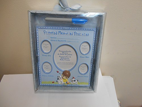 Precious Moments Personalize It Milestone Baby Frame(spanish) Blue - 1