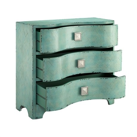 Madison Park Fulton Crackle Bombe Chest Blue See below 1