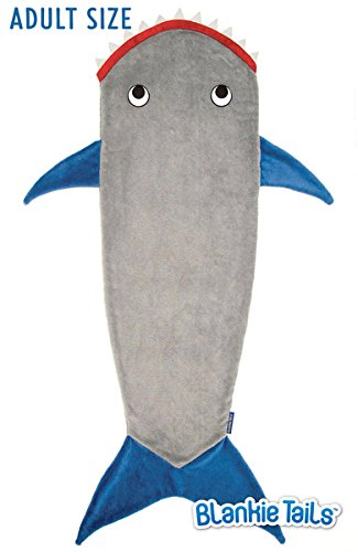 Blankie Tails Shark Blanket (Adult/Teen Size) (Gray & Deep Blue)