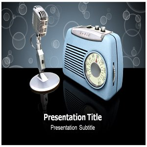 radio powerpoint templates radio powerpoint ppt backgrounds slides software. Black Bedroom Furniture Sets. Home Design Ideas