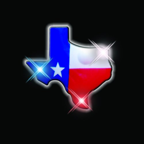 Texas Flashing Blinking Light Up Body Lights Pins (25-Pack)