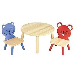 Table and Animal Chairs Set