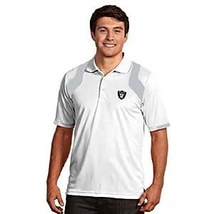 Oakland Raiders Fusion Polo (White) by Antigua
