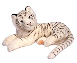 Realistic White Tiger Plush 22""