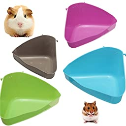 4 Color Hamster Corner Toilet Litter Tray Mouse Rat Rabbit Guinea Plastic by My Toots