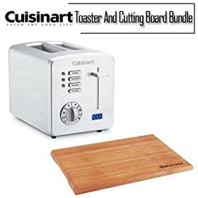 Cuisinart CPT-170 Cuisinart Countdown Metal Toaster With Cutting Board Bundle