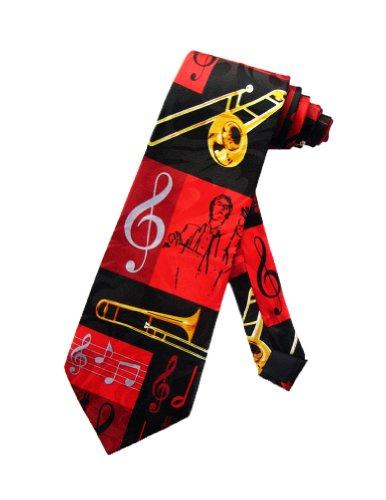 Steven-Harris-Posaune-Dirigent-Orchester-Krawatte-schwarz-Einheitsgre
