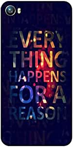 Snoogg Everything happens for a reason Designer Protective Back Case Cover For Micromax Canvas Fire 4 A107