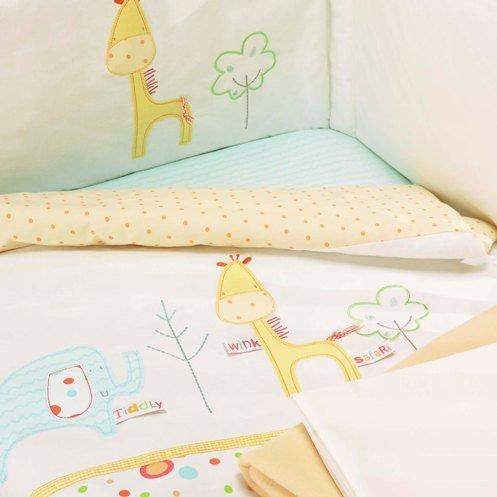 Lollipop Lane Tiddly Wink Safari Bedding Bale Cot Bed (5-Pieces)
