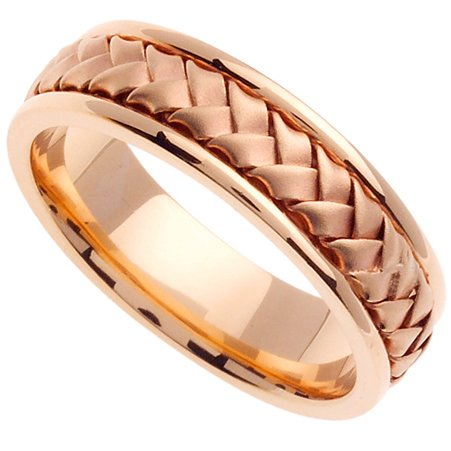 Handmade Woven 14k Rose Gold Band (6MM)