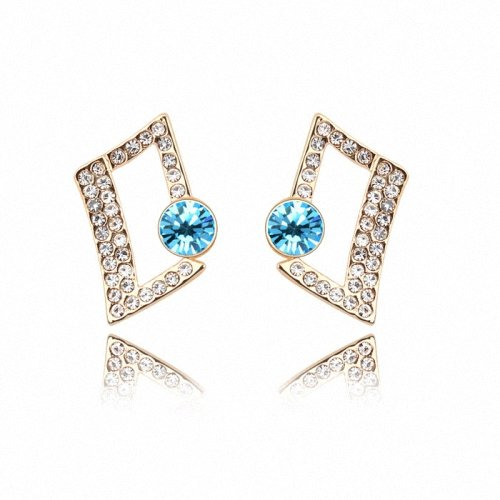 TAOTAOHAS- [ Search Name: Magic Cubic ] (1PAIR) Crystallized Swarovski Elements Austria Crystal Stud Earrings, Made of Alloy Plated with 18K True Platinum / White Gold and Czech Rhinestone