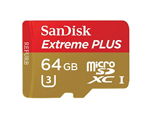 SanDisk Extreme PLUS 64GB microSDXC UHS-I/U3 Memory Card (SDSQXSG-064G-GN6MA) (Certified Refurbished) (Micro Sd Sandisk Extreme compare prices)