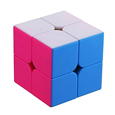 Dreampark 2x2 Speed Cube Stickerless Smooth Magic Cube Puzzles - 100% Money Back Guarantee! by Dreampark